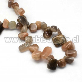 """Abalorio de piedral natural, chips, 10~15x6~12x3~7 mm, agujero: 1 mm. 56pzs / tira, 15 """""""